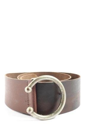 Vanzetti Cintura di pelle marrone stile casual