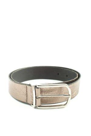 Vanzetti Cinturón de cuero color bronce look casual