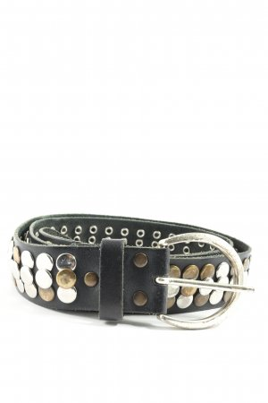 Vanzetti Leather Belt black-silver-colored casual look