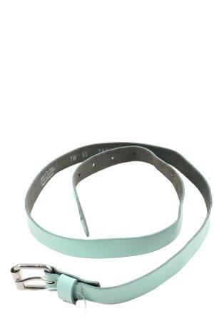 Vanzetti Ceinture en cuir turquoise style décontracté