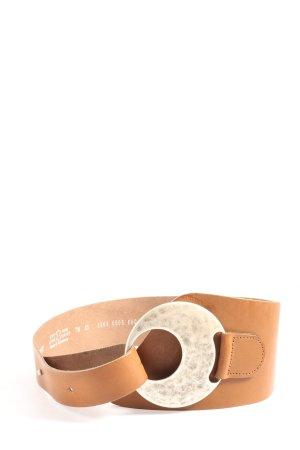 Vanzetti Leather Belt nude casual look