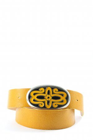 Vanzetti Cintura di pelle arancione chiaro stile casual