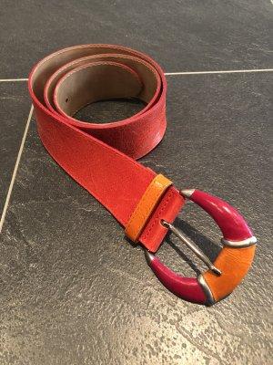 Vanzetti Ledergürtel in knalligen Farben 80cm