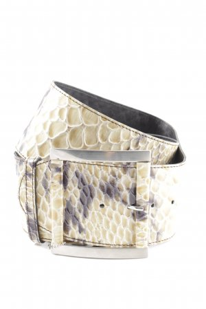Vanzetti Leather Belt natural white allover print casual look