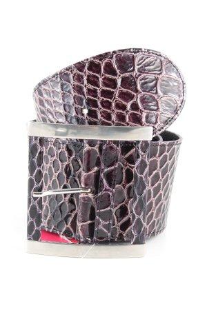 Vanzetti Cintura vita nero-rosa motivo animale stile casual