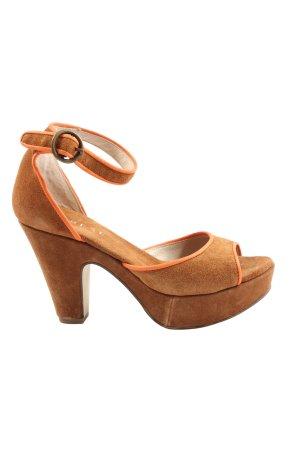 Varese High Heel Sandaletten braun Casual-Look