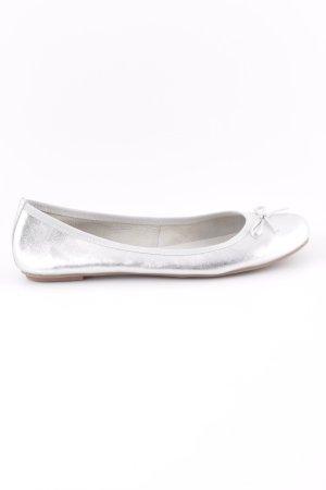 Varese Ballerina di pelle verniciata argento stile casual
