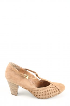 Varese Mary Jane Pumps braun Casual-Look