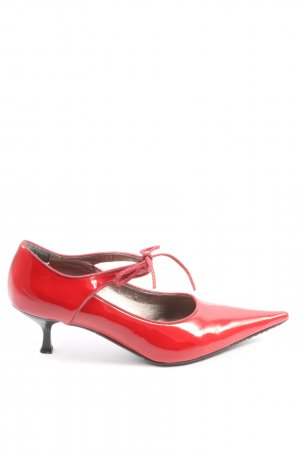 Varese Spitz-Pumps rot Business-Look