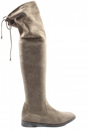Varese Wide Calf Boots brown casual look