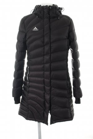 Vaude Manteau en duvet noir lettrage imprimé style décontracté