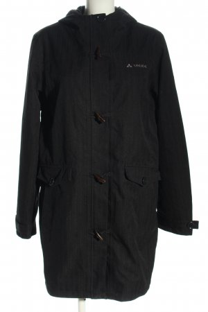 Vaude Duffle-coat noir lettrage brodé style décontracté