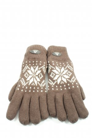Vaude Padded Gloves brown-white allover print casual look