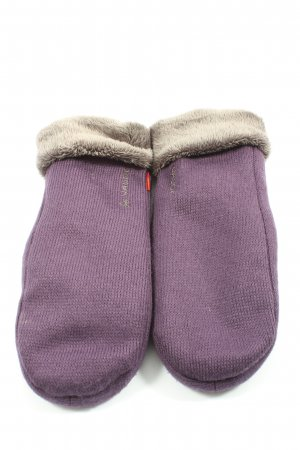 Vaude Padded Gloves lilac-natural white themed print casual look
