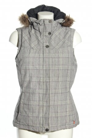 Vaude Hooded Vest light grey check pattern casual look