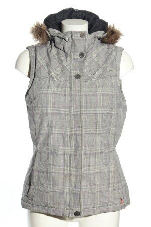 Vaude Smanicato con cappuccio grigio chiaro motivo a quadri stile casual