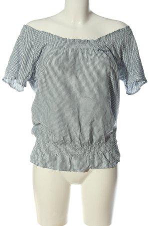 Vaude Blusa de manga corta azul-blanco elegante