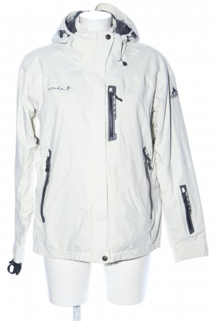 Vaude Outdoor Jacket natural white striped pattern casual look