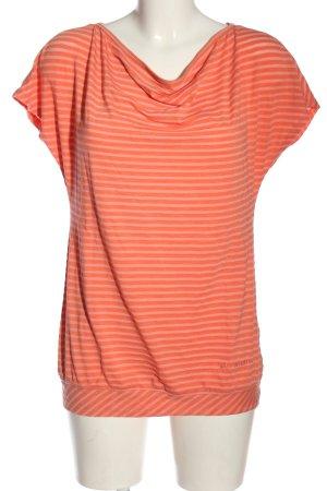 Vaude Ringelshirt rot-pink Streifenmuster Casual-Look