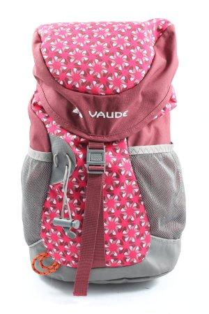 Vaude Plecak szkolny różowy-jasnoszary Graficzny wzór Elegancki