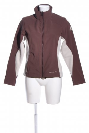 Vaude Softshell Jacket brown-white printed lettering casual look