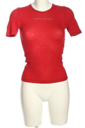 Vaude T-Shirt rot Schriftzug gedruckt Casual-Look
