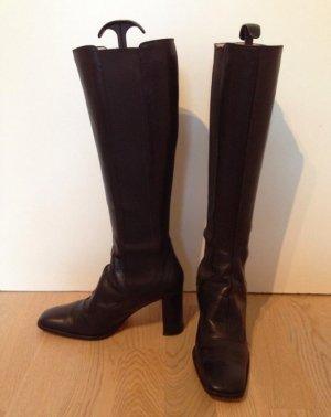 VB Hochwertige schwarze Lederstiefel NP 350€
