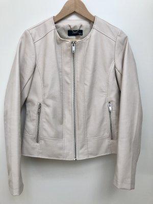 Reserved Leather Jacket natural white polyurethane