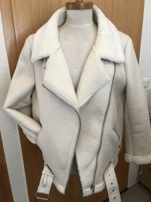 Zara Faux Leather Jacket oatmeal