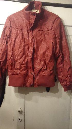 Faux Leather Jacket bordeaux
