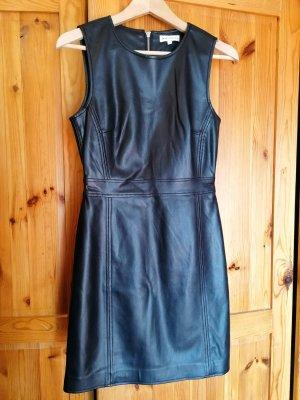 Warehouse Robe en cuir noir