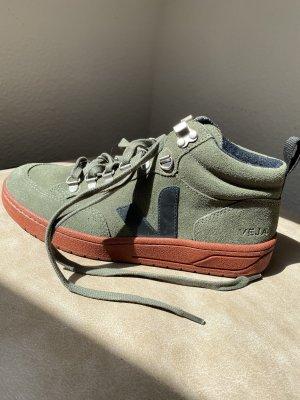 Veja Sneaker High, Gr. 38, olive -black