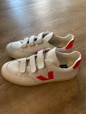 Veja Basket velcro blanc-magenta
