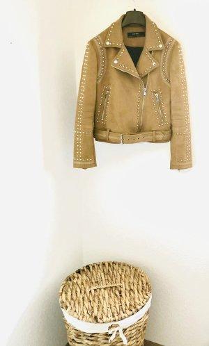Velour-Lederjacke von Zara