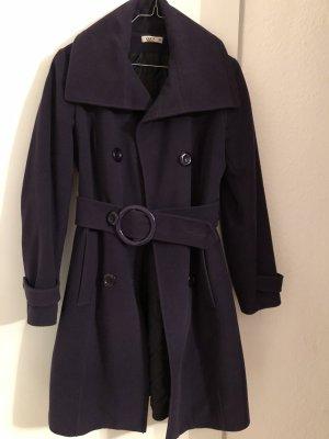Płaszcz zimowy szaro-fioletowy