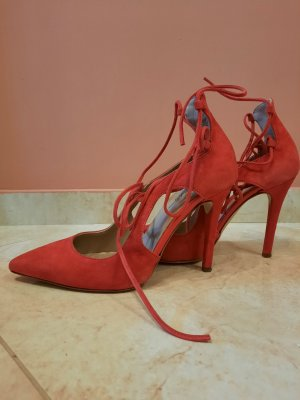 Jolie By Edward Spiers Lace-up Pumps red