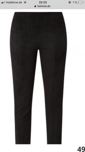 s.Oliver Black Label Leather Trousers black