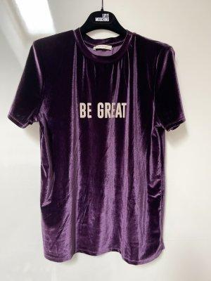 Velour T-Shirt von Zara