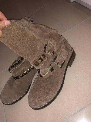 Velourleder boots