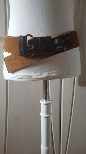 Braided Belt camel leather