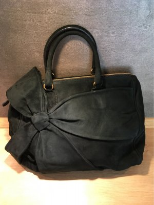 Velourleder Handtasche von VALENTINO flaschengrün
