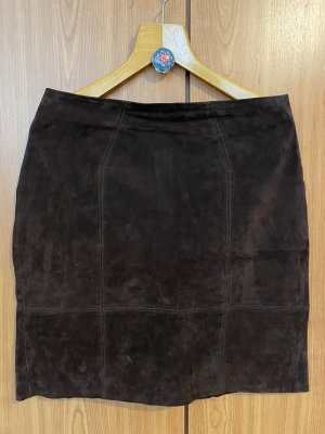 Vila Falda de cuero marrón