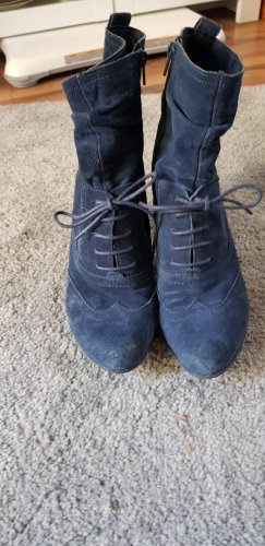 5th Avenue Lace-up Booties blue