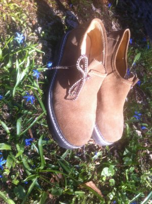 Zapatos brogue marrón claro-color bronce Cuero