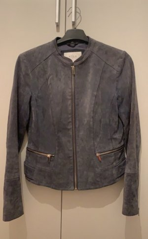 Vila Biker Jacket steel blue leather