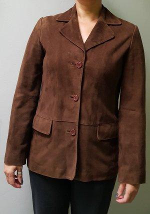 Blazer en cuir brun noir cuir