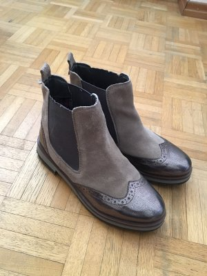 Mattea Botas de tobillo gris claro-color plata Cuero