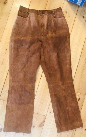 Pantalón de cuero marrón