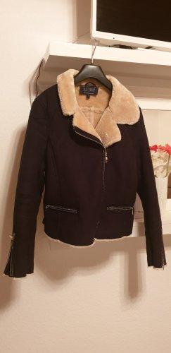 Armani Jeans Fake Fur Jacket multicolored