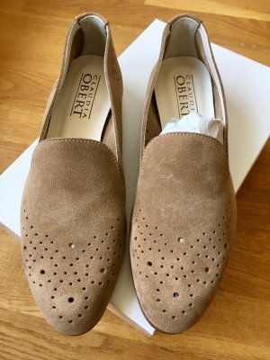 Veloursleder-Loafers - Gr. 37,5 - NEU